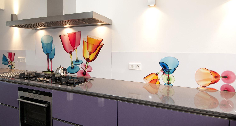 Foto spatwand een originele achterwand in de keuken - Keuken originele keuken ...