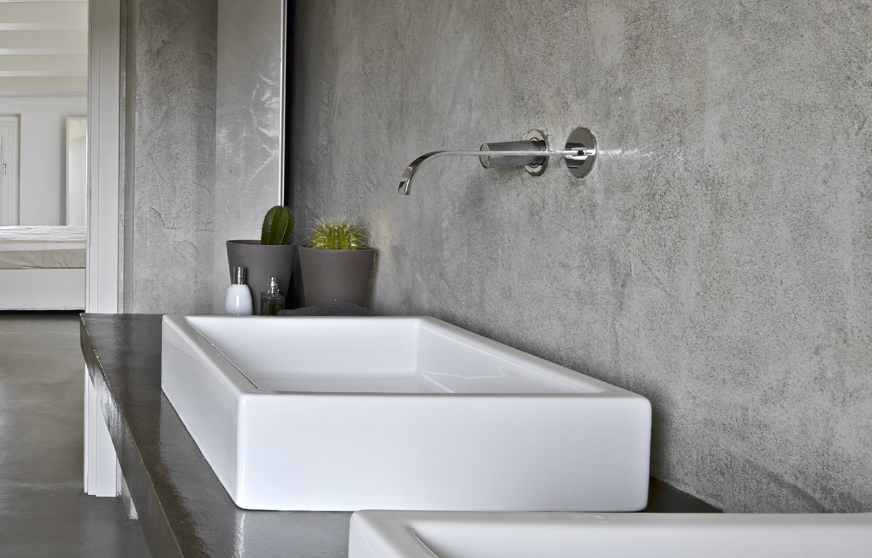betonlook in de badkamer: materialen & hun eigenschappen, Badkamer