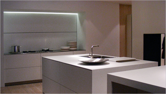 Witte Keuken Spoelbak : Corian Keuken