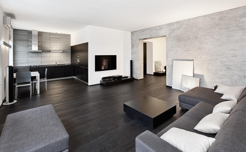 Zwart wit interieur ontwerpen tips inspiratie - Kleur moderne woonkamer ...