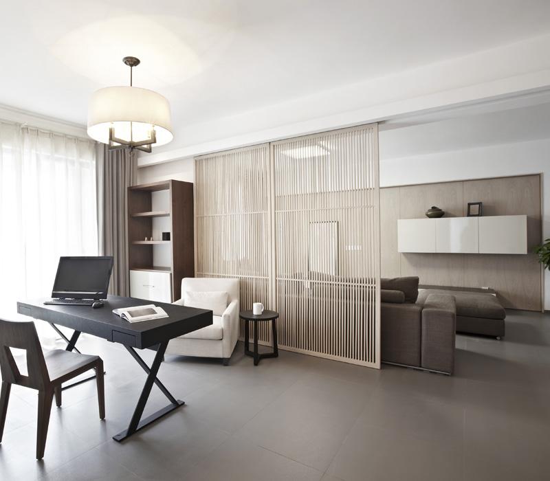 Tips voor een home office in de woonkamer for Carta da parati per ufficio