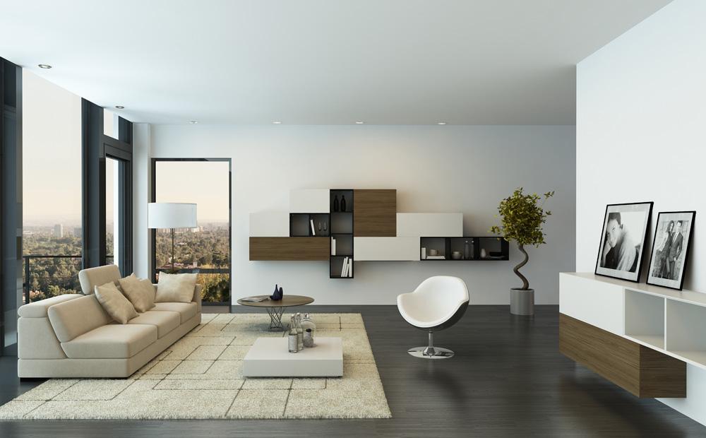 Woonkamer witte meubels : Witte woonkamer