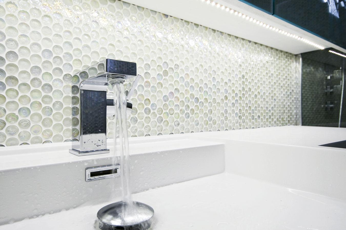 mozaïek tegels in de badkamer: materialen & inspiratie, Badkamer