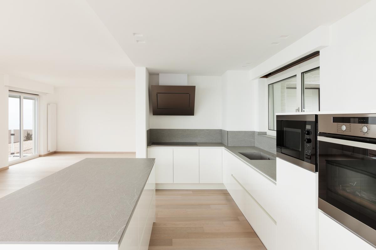Welk keukenblad bij een strakke design keuken interieur meubilair idee n - Keukens fotos ...