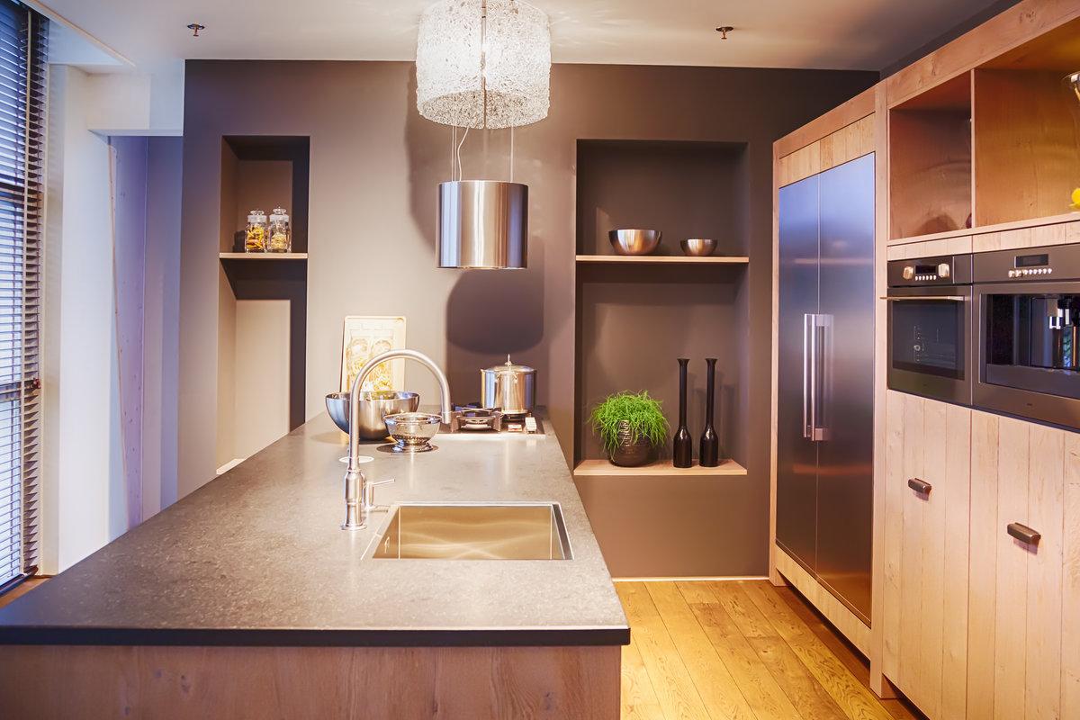 Amerikaanse koelkast in kleine keuken u informatie over de keuken