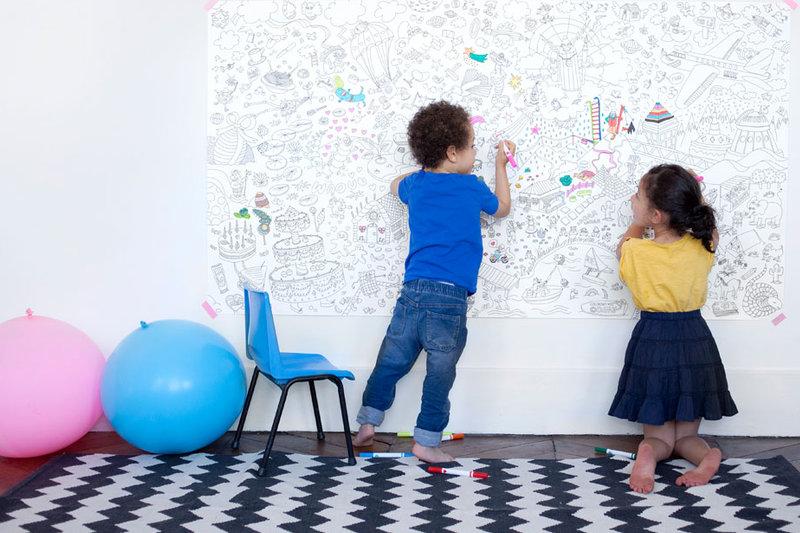 Grote kleurplaten omy voor de kinderkamer info en verkooppunten - Inrichting van een kamer voor kinderen ...