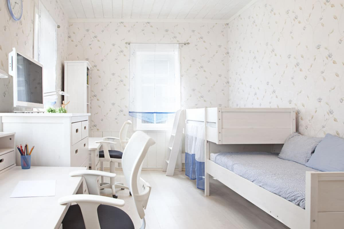 behangpapier slaapkamer retro