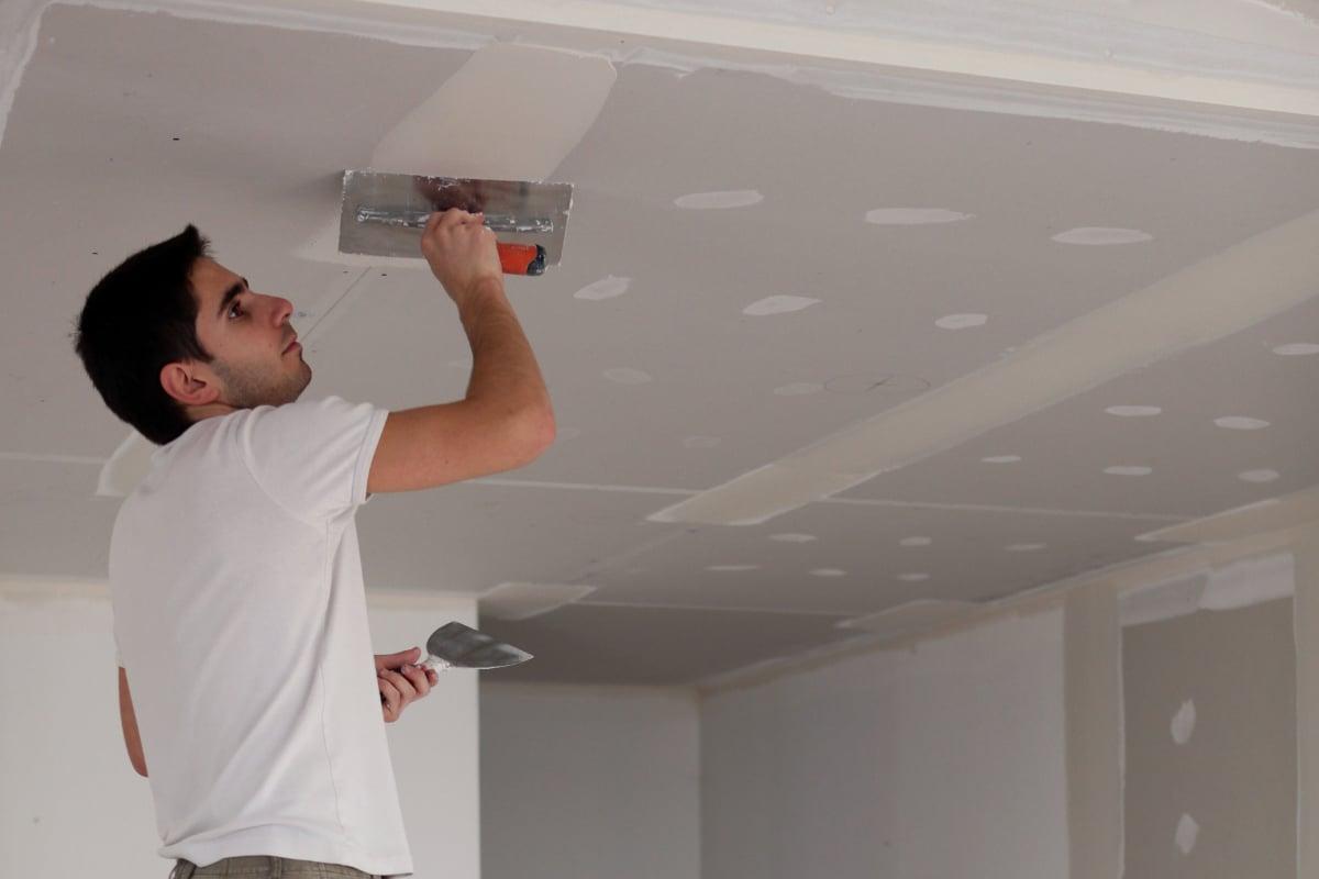 gyproc plafond afwerken