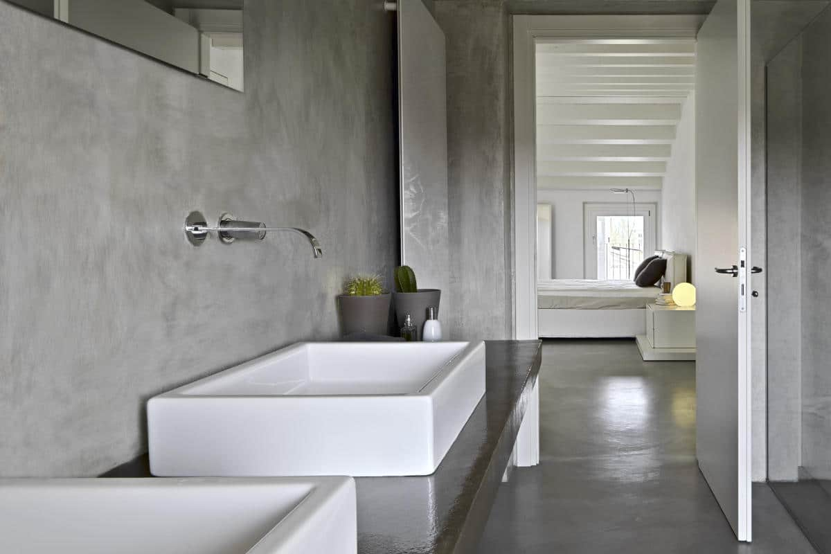kalkverf badkamer