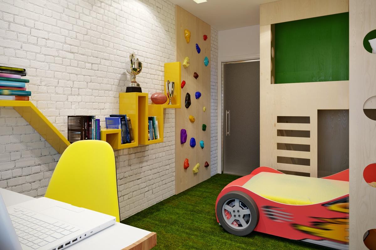 kinderkamer met autobed