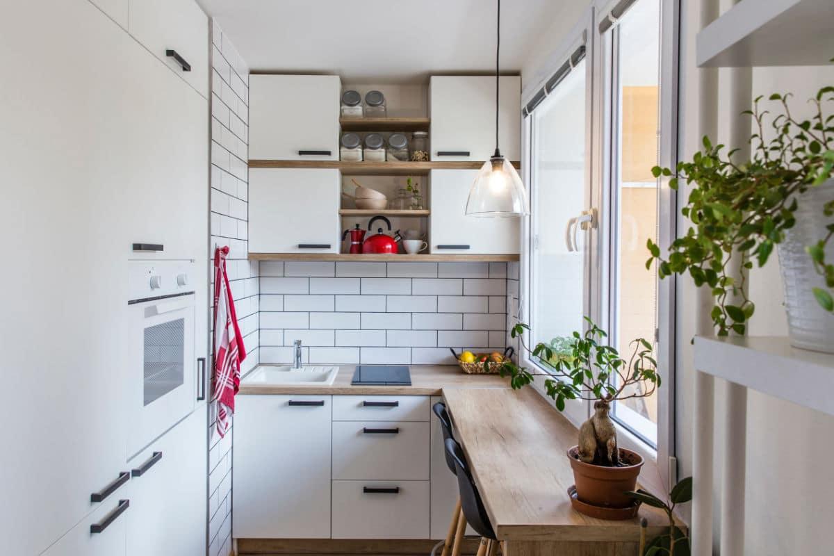 zitplaats in smalle keuken